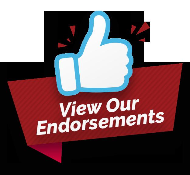 View Our Endorsements